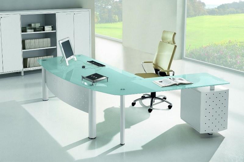 Scrivania Ufficio Vetro E Acciaio : Scrivanie ufficio in vetro una scelta di eleganza e di stile